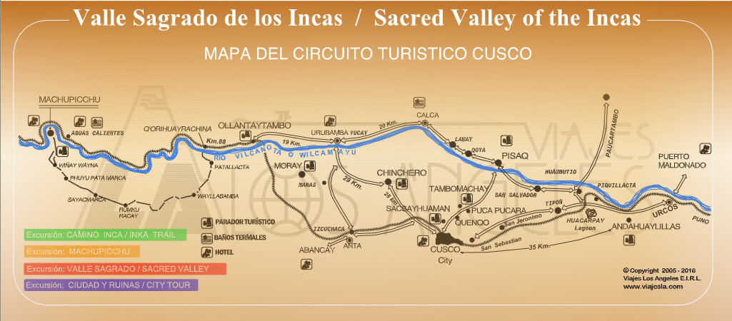 mapa circuito turistico cusco valle sagrado machu-picchu
